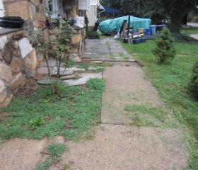 Custom Stonework - Walkway (before)