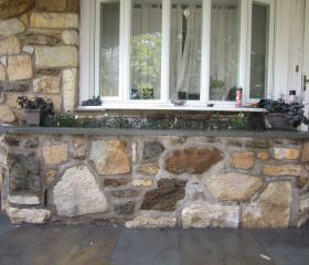 Custom Stonework - Wall (after)