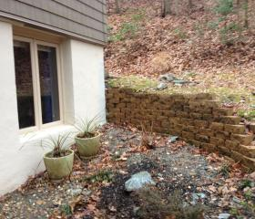 Custom Stonework - Patio (before)