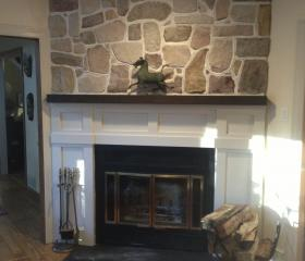 Custom Stonework - Fireplace