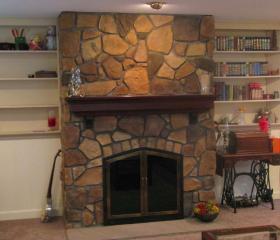 Custom Stonework - Fireplace