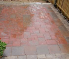 Brick Patio (after)