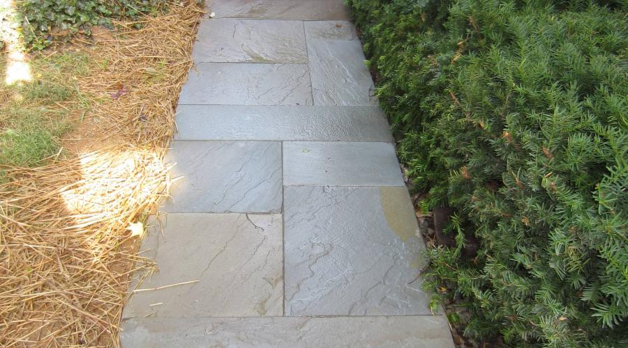 Custom Stonework - Walkway (after)