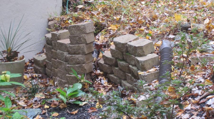 Custom Stonework - Patio (before)